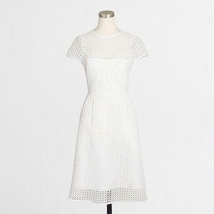 J. Crew Eyelet dot dress white size 10 NWT $128